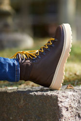 Hiking Grained Leather Brun