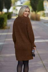 Lulu LS Knit Dress O-Neck Rubber