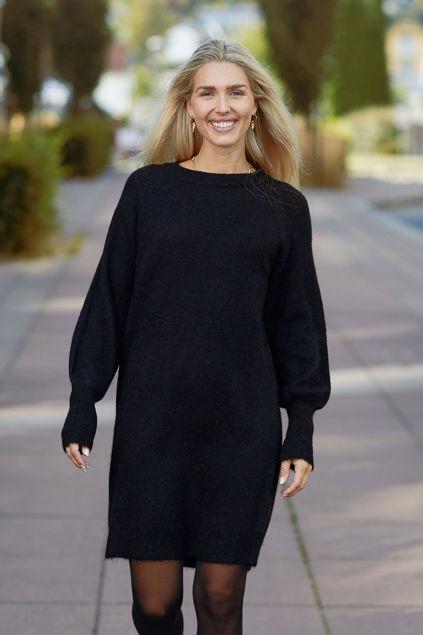 Lulu LS Knit Dress O-Neck Sort