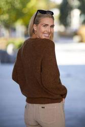 Lulu Knit Short Cardigan Rubber melange