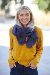 Lulu Knit O-Neck Arrowwood melange