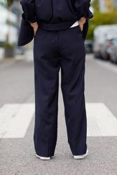 Fool Wool Trouser Marineblå