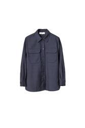 Sealiner Wool Shirt Marineblå