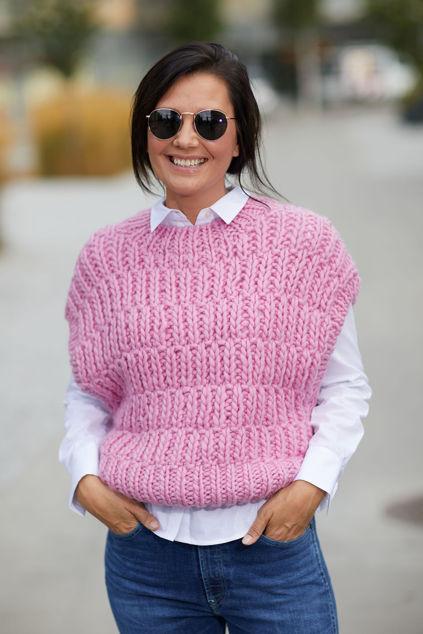 Pearl Knit Vest Prism Pink