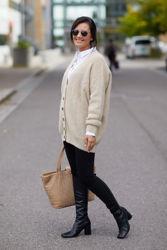 Grethe Knit Cardigan Parchment