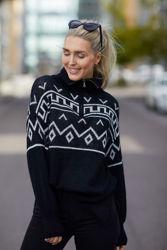 Rocco Sweater Sort/offwhite