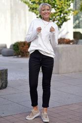Leni Oversized Sweatshirt Hvit