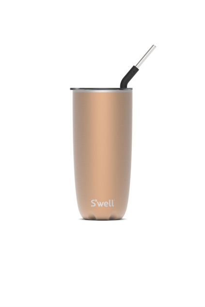 Pyrite Tumbler With Straw Pyrite