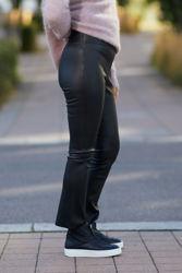 Nicoline Leather Pants Sort