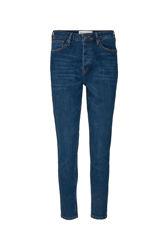Hepburn HW Mom Wash Prato Jeansblå