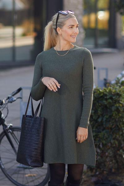 Cecilie Merino Dress Grønn