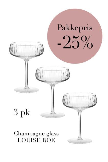 3-pk Champagne Clear