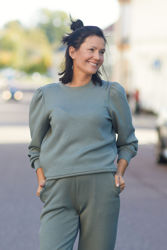 Ima Puff Sweatshirt Agave Green