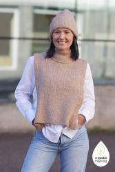 Linna-Mia Knit Bib Amphora melange