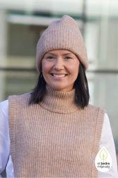 Linna-Mia Knit Beanie Amphora melange