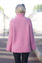 Myah LS Knit High Neck Prism Pink
