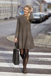 Cecilie Merino Dress Brun