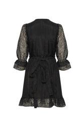 Ikas Dress Black Burn Out