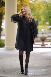 Liddy Dress Black Burn Out