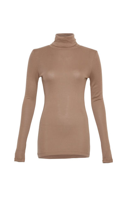 Mona Lyocell R LS Top Caribou