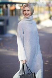 Elina LS Knit Lys Grå