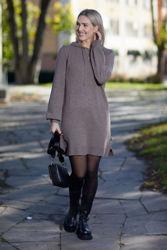 Alma Wool Dress Portobella