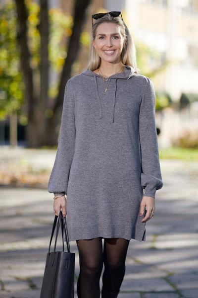 Alma Wool Dress Grå