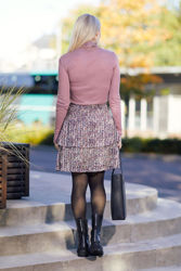 Kaline Short Skirt Lint Flower