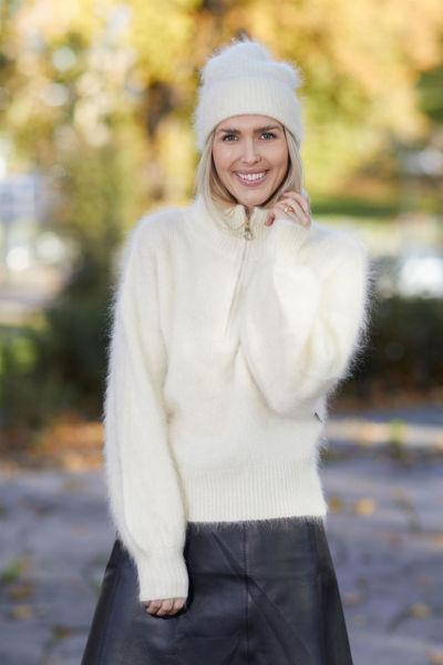 Li Mohair Sweater Hvit