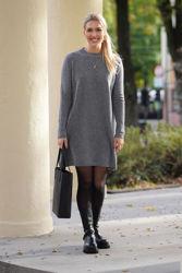 Ellie Wool Dress Grå