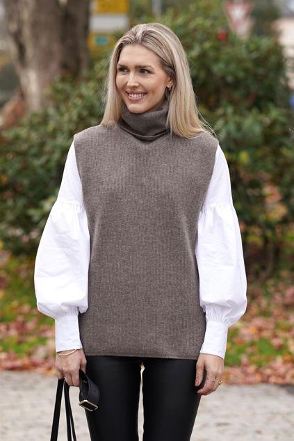 Irja Wool Vest Portobella