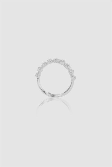 Grit Carbon Atom Ring Sølv