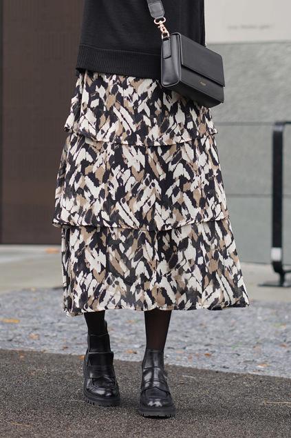 Lianna PW Skirt Sort m/print
