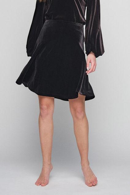 Hanami Velour Skirt Sort