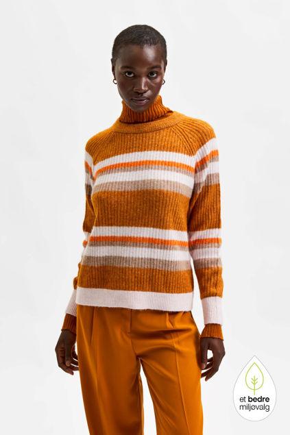 Star LS Knit Rib Strip X-Mas O-Neck Pumpkin Spice